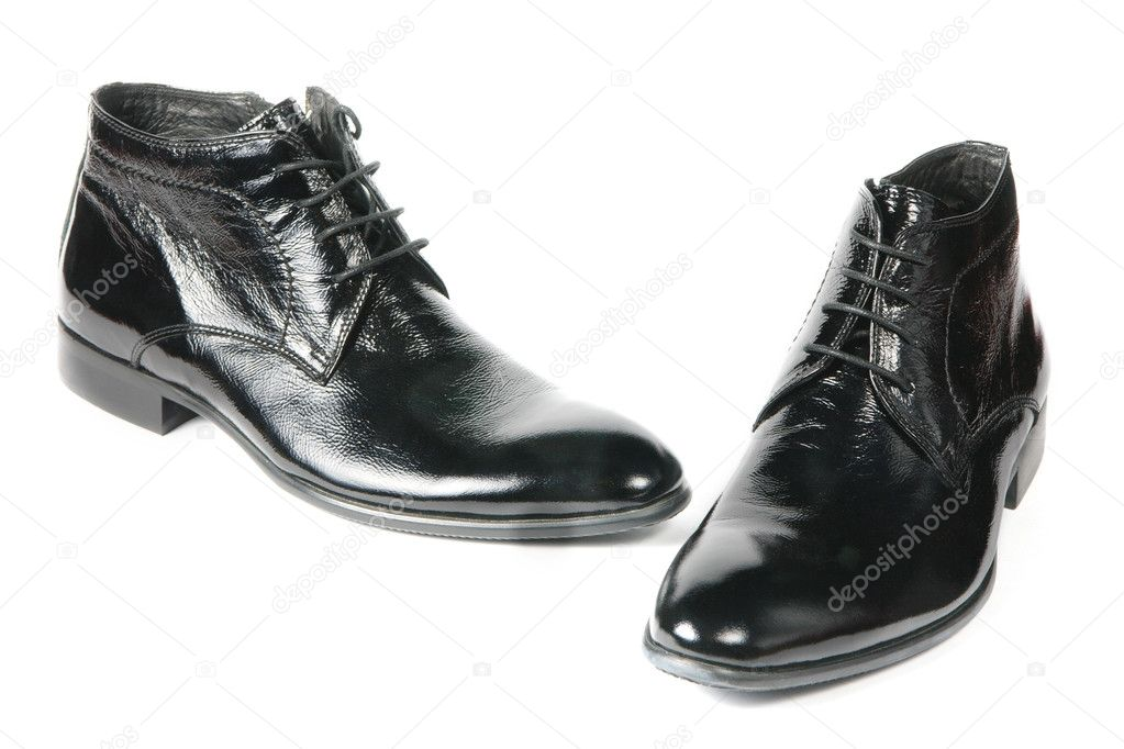 New modern male shoes isolated on white background — Stock Photo #5728611