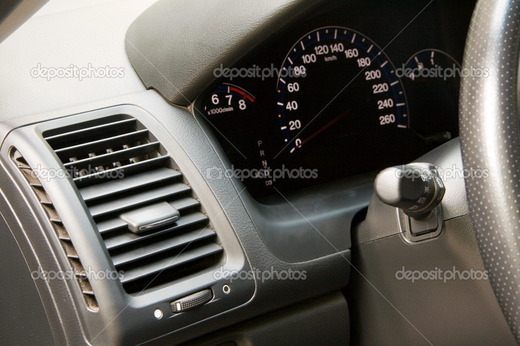 Modern car dashboard closeup photo — Stock Photo #5728626