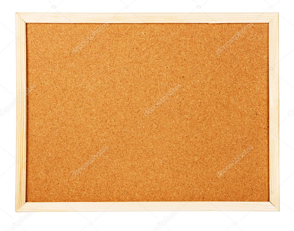Corkboard isolated on white background — Stock Photo #5729099