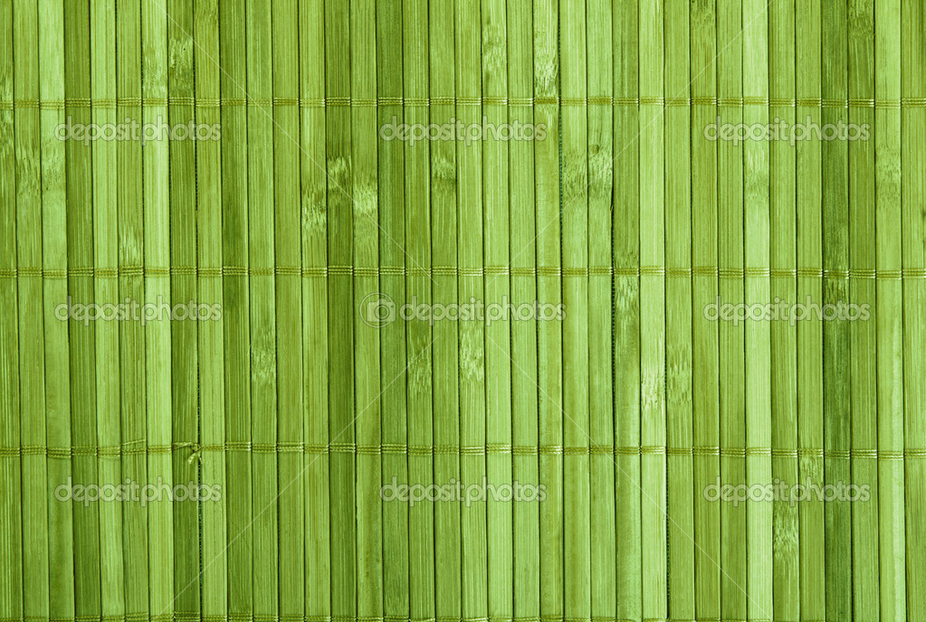 Traditional green bamboo pad texture  Stock Photo #5729240