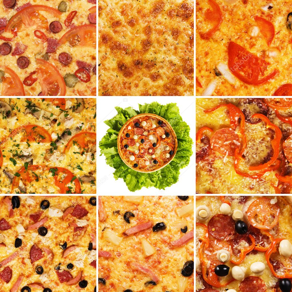 Set of different pizzas — Stock Photo #5729521