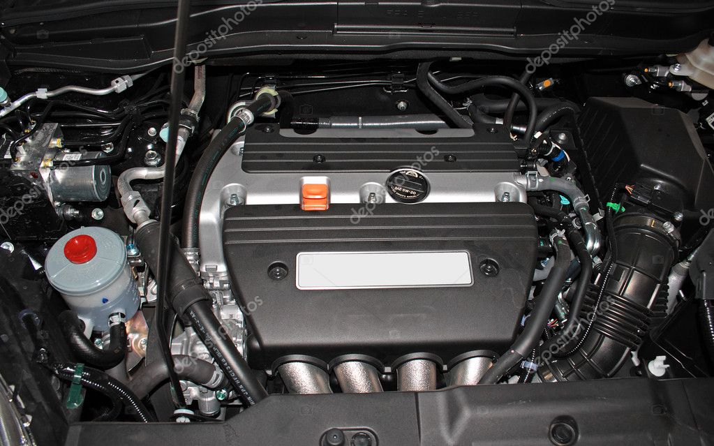 Open engine of a modern car — 图库照片 #5729598
