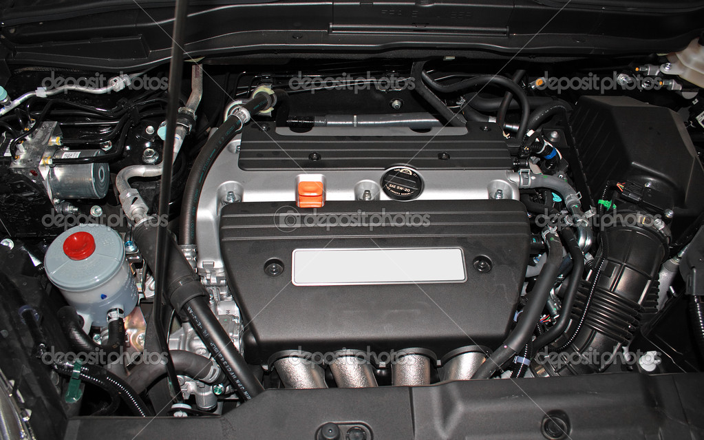 Open engine of a modern car — Foto Stock #5729598