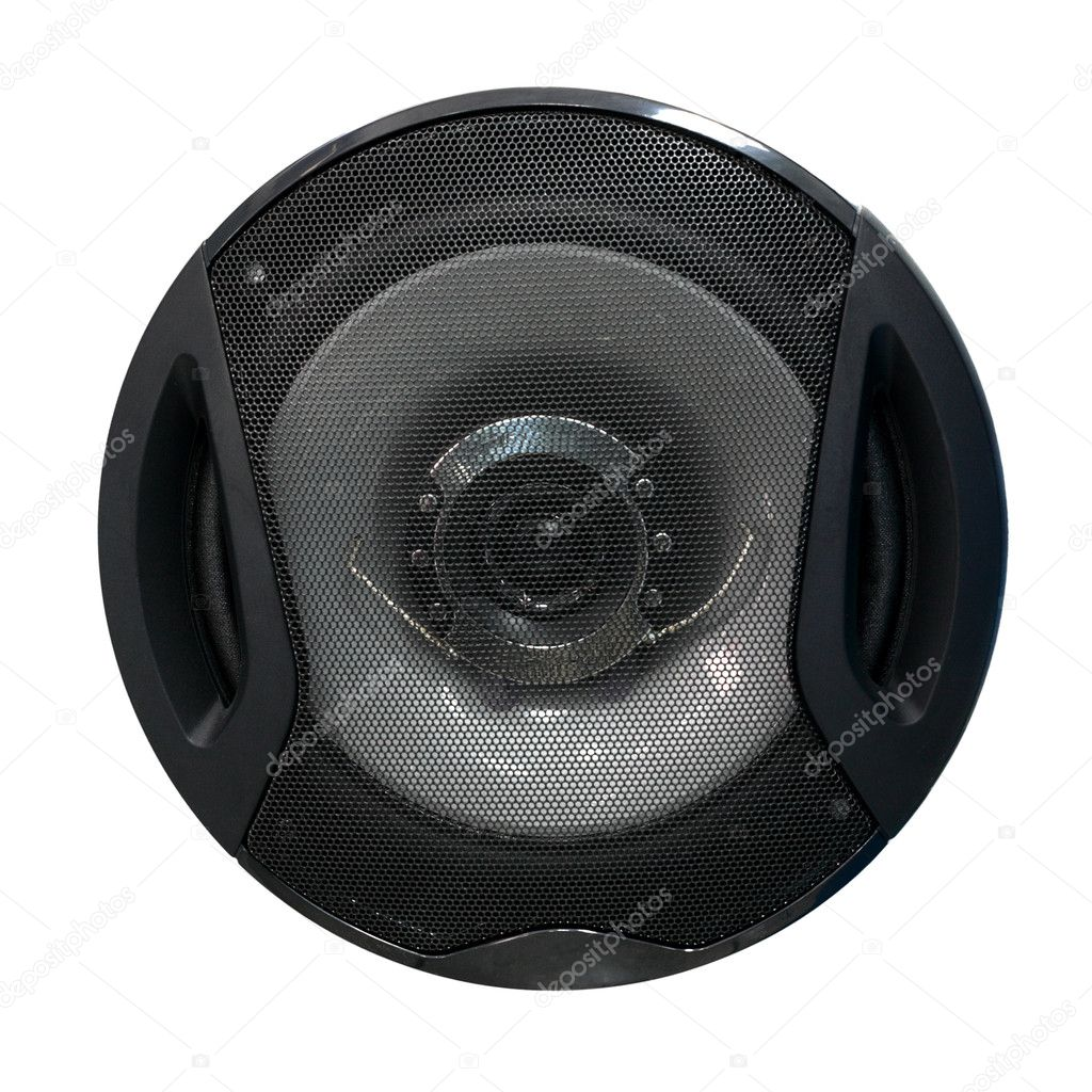 Audio speaker isolated on white background — Stock Photo #5729884