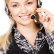 Call center professional — Stock Photo