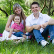 Young family of three on a picnic — Stock Photo #5757900