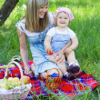 Mother with daughter outdoors — Stock Photo #5757915