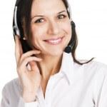 junge schöne Call-Center-Betreiber — Stockfoto