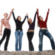 Four girls having fun — Stock Photo #5757996