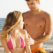 Romantic couple on the seaside — Stock Photo #5758248