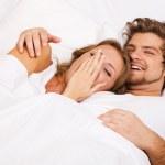 Young beautiful couple sleeping — Stock Photo #5758421