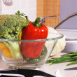 Bowl with fresh vegetables — Stock Photo