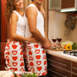 Young romantic couple in the kitchen — ストック写真 #5758489