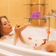 Beautiful lady taking a bath — Stock Photo #5758513