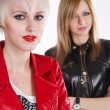 Two stylish teenage girls — Stock Photo
