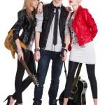 Teenage rock band — Stock Photo