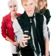 Teenage rock band — Stock Photo