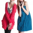 Lovely teenage girls having fun together — Stock Photo #5758536