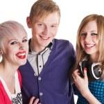 Happy teenage friends — Stock Photo