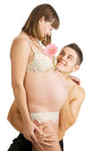 Happy young couple expecting a baby — Stock Photo