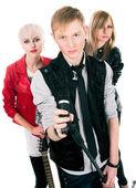 Genç rock grubu — Stok fotoğraf
