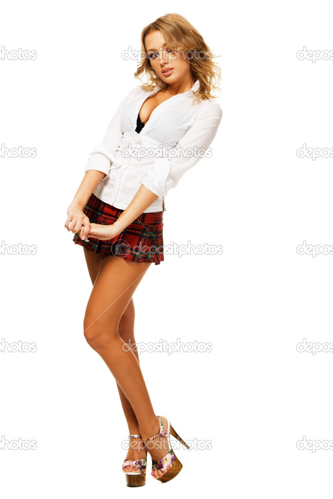 Сексуальная девочка в короткой юбке 6 фотография