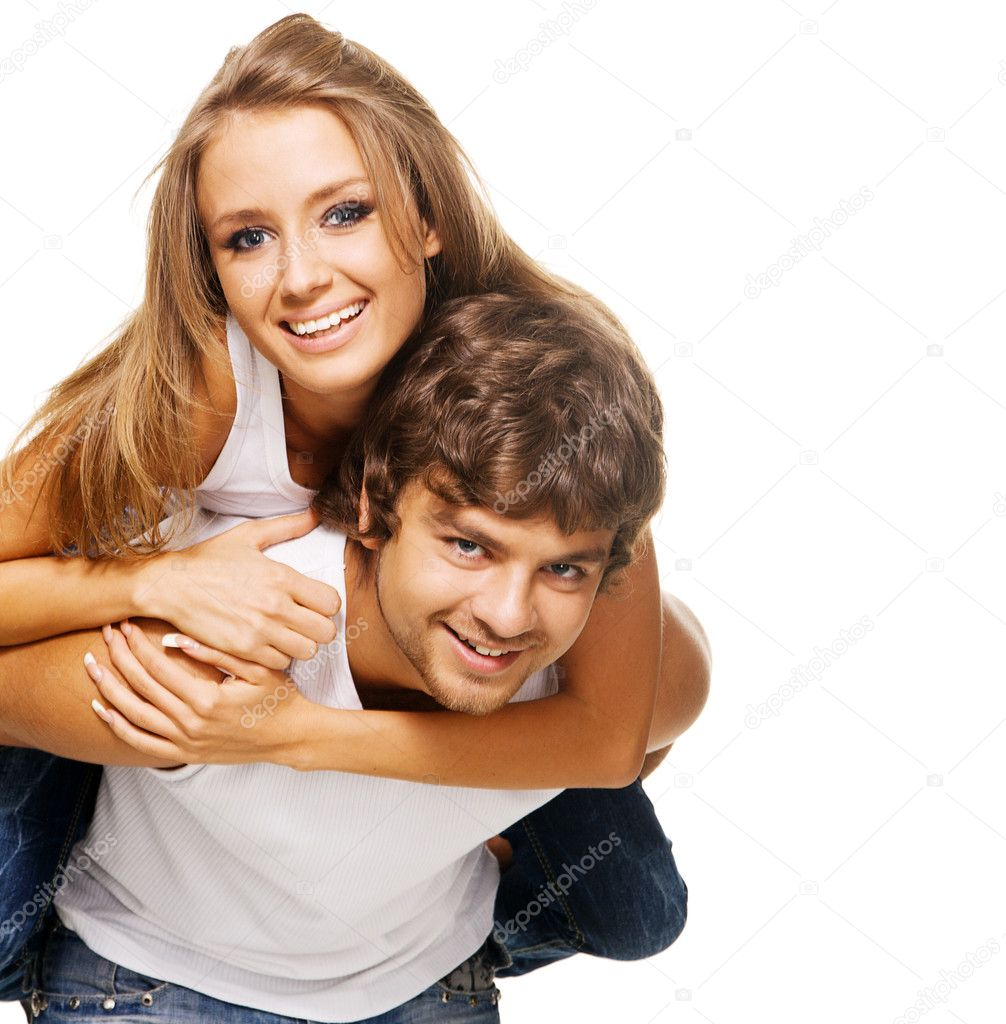 Beautiful young couple in casual clothing  Stock Photo #5758256