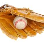 Baseball ball and mit — Stock Photo