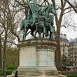 Charlemagne statue in Paris - Stockfoto