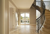 Staircase and front door — Stock Photo