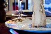 Fancy plate at restaurant — Foto Stock