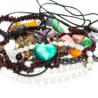 Stock Photo: Jewelry, necklaces from stones
