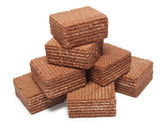Heap chocolate wafer — Stock Photo