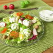 Stockfoto: Salad with goat cream cheese balls