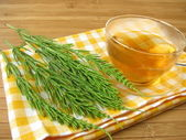 Tea with field horsetail — Stock Photo