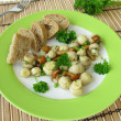 Salad with mushrooms — Stok fotoğraf