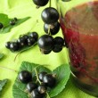 Smoothie from black currants — Stock Photo