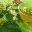 Tea with meadowsweet — Stock Photo
