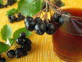 Black chokeberry juice — Stock Photo