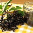 Jam with elderberries — Stock Photo
