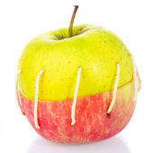 Sewn Apple — Stock Photo