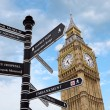Royalty-Free Stock Photo: Big Ben and street signs
