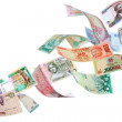 Flying money from around the world — Stock Photo #6651097