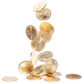 Falling American Dollar Coins — Stock Photo