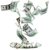 Fallng dolar — Stok fotoğraf