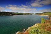 Mouth of the Erme estuary South Hams Devon — Stock Photo