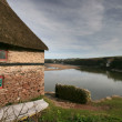 Bantham Boathouse. - Stock Photo