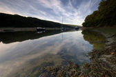 Erme Estuary Mooring — Stock Photo