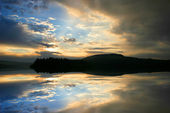 Burrator reflection — Stock Photo