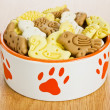 Dog treats biscuits — Stock Photo